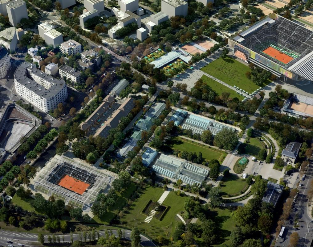 Nouveau court des Serres Roland Garros