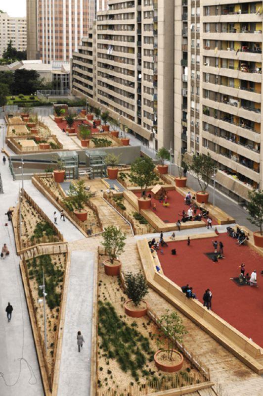 Espaces publics du quartier du pont de Sèvres